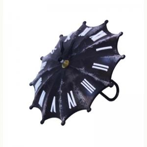 umbrella-clock-black-and-white - wall-clocks